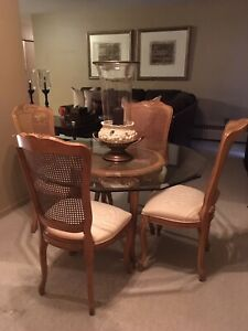 Century furniture dining room table and chairs