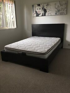 Double bed frame - black