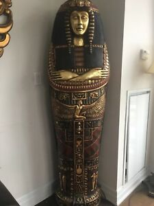Ancient Egyptian Mummy Case/Coffin Decor