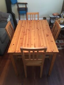 IKEA Pine Table and Chairs