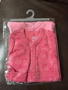 Baby girl diaper shirts never used 3-6 months
