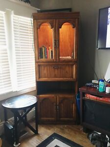 Kauffman Of Collingwood Solid Oak, Glass Unit / Cabinet