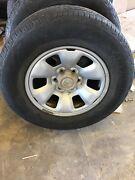 Prado Landcruiser 120 series steel wheels and tyres. Maitland Maitland Area Preview