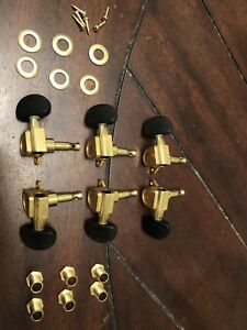 Takamine Deluxe Gold Tuners with Solid Ebony Buttons