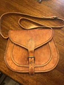 Ladies hand crafted leather purse from India