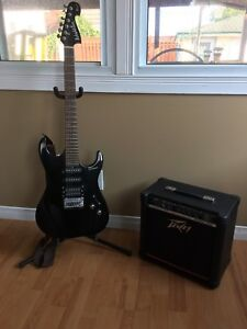 Washburn Guitar and Peavey Amp