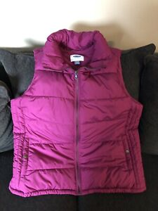 NWOT Ladies Size Large Puffy Vest Old Navy Fleece Lined