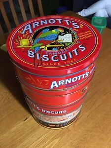 Arnotts biscuit tins set of five Marrickville Marrickville Area Preview