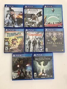 7 jeux PS4 games The Division,inquisition,creed,the order
