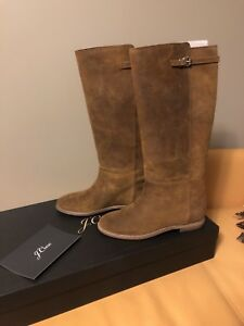 NEW JCrew Langston Brown Suede Boots Size 9.5