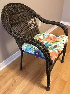 Brand new wicker chair with free cushion worth $38.99