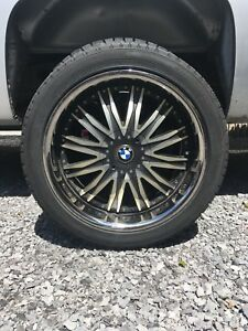 "20"" rims and tires off BMW"