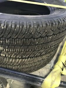 4 - 275/65-20 Michelin 10 ply 13/32nds