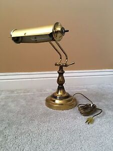 Vintage Brass Piano / Desk Lamp