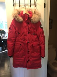 Red down parka sz 6-8