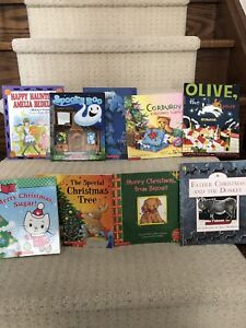 Children's holiday theme books (lot of 9) for $10