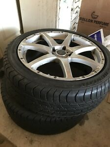 Pair of Low Profile Tires 225/45R18 and Mazda Speed Rims