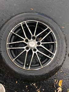 Mags + tire hiver 215/60r16 , 5x114.3