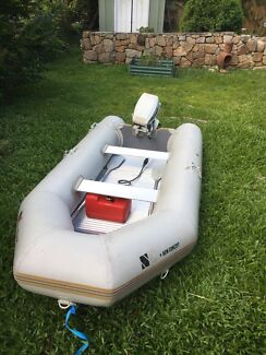 Inflatable boat 15hp Johnson Outboard