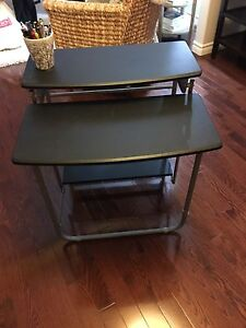 Fold Up Black Desk