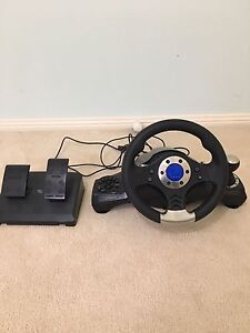 Ps3 steering wheel and foot controls Fletcher Newcastle Area Preview