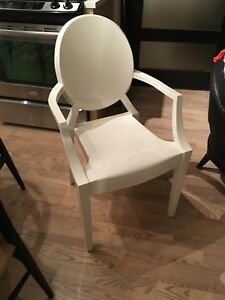 Authentic white Kartell Louis Ghost Chair