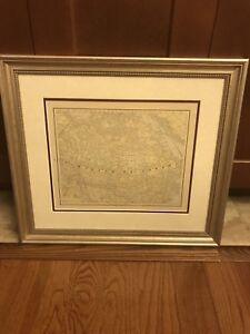 Framed double matted picture