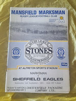 Mansfield Marksman vs. Sheffield Eagles - 2/9/1987