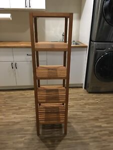 Wooden shelving - bathroom rack or plant stand