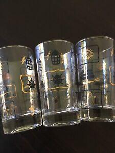 Vintage Cocktail Barware Glasses Mad Men