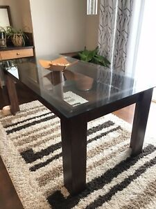 Modern Dining Table with a Glass top