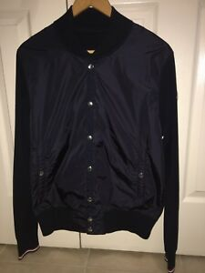 Brand New MONCLER MAGLIONE NYLON WOOL BOMBER JACKET size L