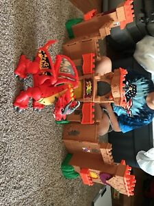 Imaginext castle and dragon
