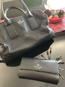 Kate Spade Matching Bag and Wallet (BLACK)