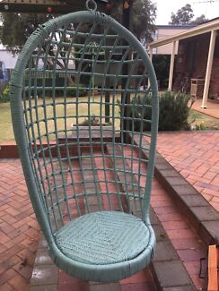 2 x wicker Egg Chairs