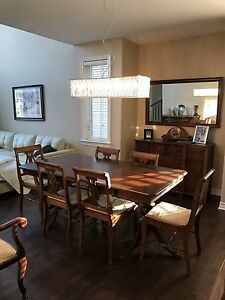 Solid Walnut Gibbard Dining Table And Chairs