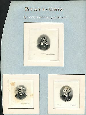 1870S Vignettes Used For Stamps    Very Rare Group Of 3    Bt4168