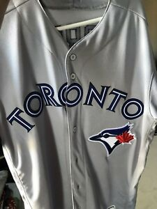 Toronto blue jays game worn playoff jersey game 3 Second round