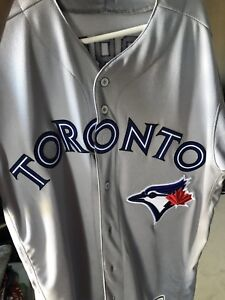 Toronto blue jays game worn playoff jersey game 3 ALCS
