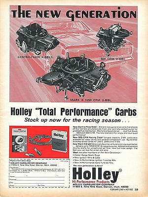 1969 Holley Performance Centra Flow, 500 CFM, & Mark II 1050 CFM Carburetor Ad