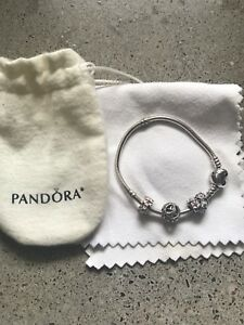 Pandora Bracelet with Three Charms