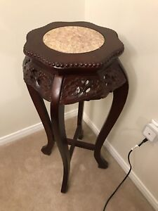Antique side table corner stand