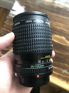 Canon FD lenses 35 - 105 f/3.5 and 28mm f/2.8