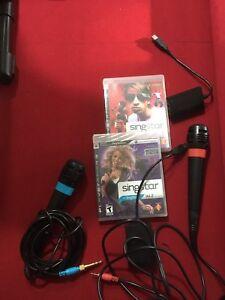 Singstar games and Microphones