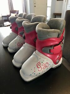 Two pairs girls ski boots - size 16.5