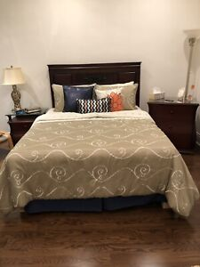 Bedroom set on sale along with mattress