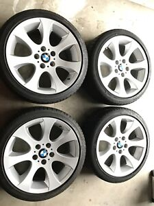 Bmw rims and tires for sale staggered setup