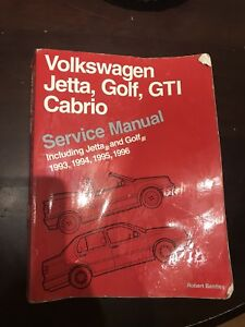 Volkswagen Jetta, Golf, Cabriolet Bentley Service Manual