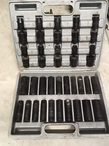 Impact sockets set 1/2 drive imperial