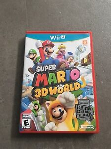 Mario 3D World Wii U with manual